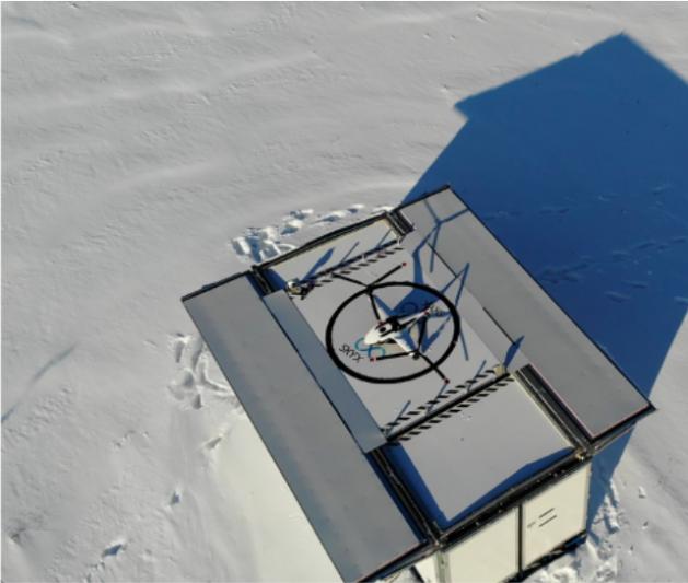 地上ステーション「xStation」とVTOL機「SkyTwo」